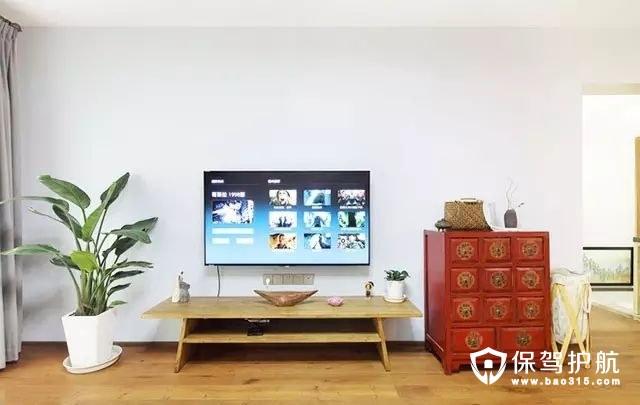 简洁北欧风格客厅电视背景墙装修效果图