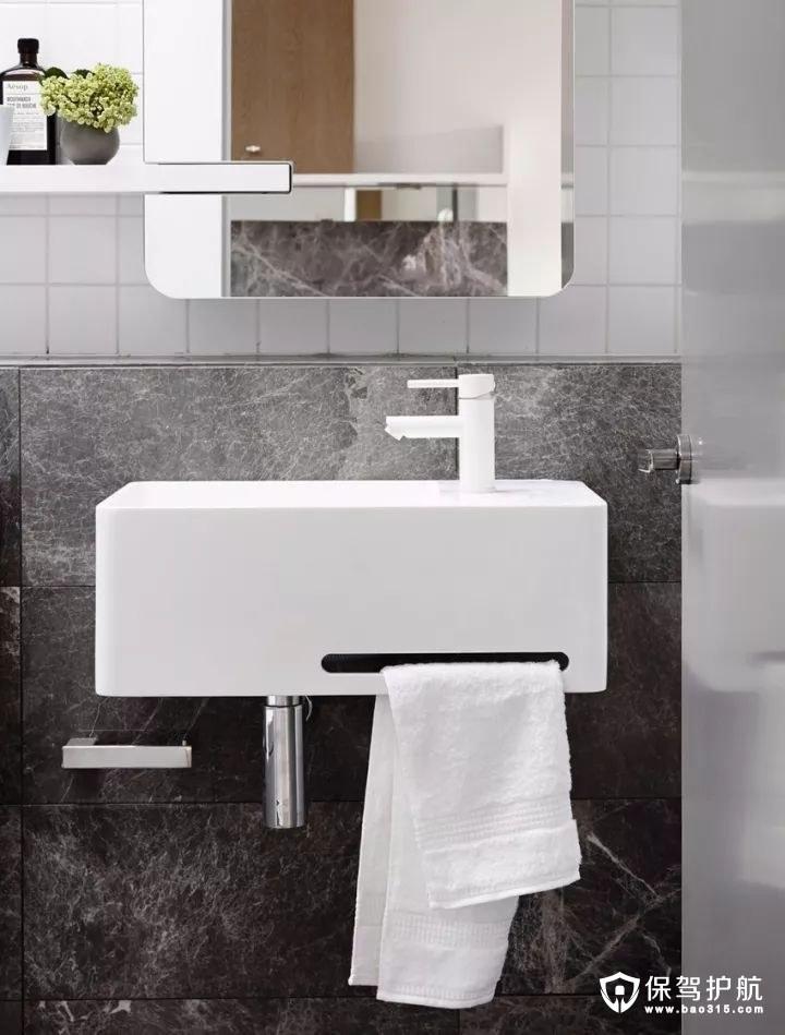 现代简约质感卫生间装修效果图