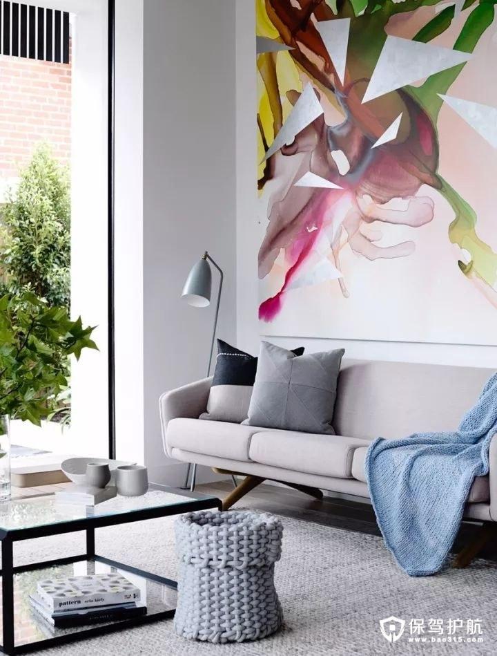 精致美丽简约风格客厅沙发背景墙装修效果图