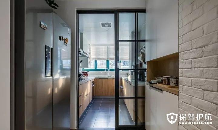 整洁明亮混搭风格厨房装修效果图