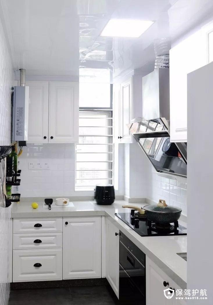 小巧精致白色北欧风格厨房装修效果图