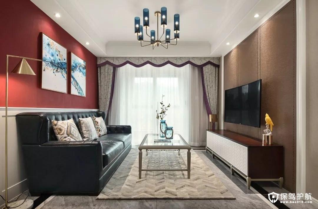 精致优雅103㎡现代美式婚房