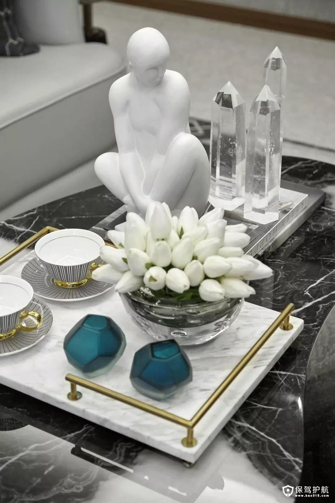 优雅恬静简欧风格客厅茶几装修效果图