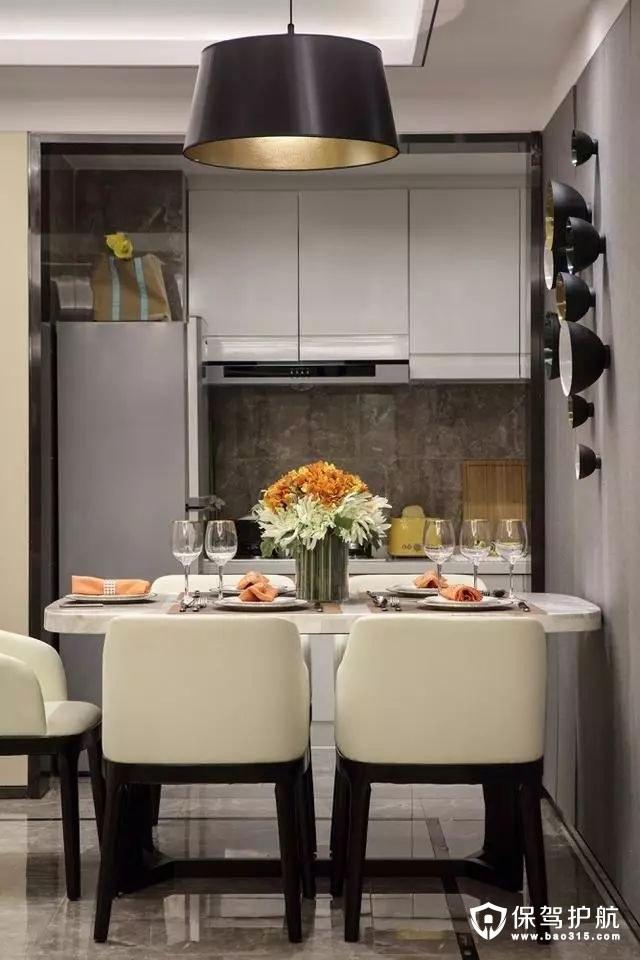 舒适端庄开放式小厨房装修效果图