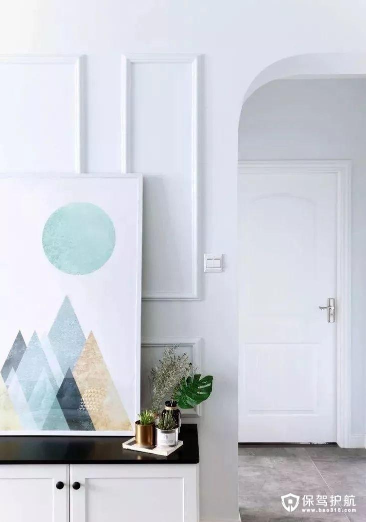 简约清新北欧风格客厅电视背景墙装修效果图