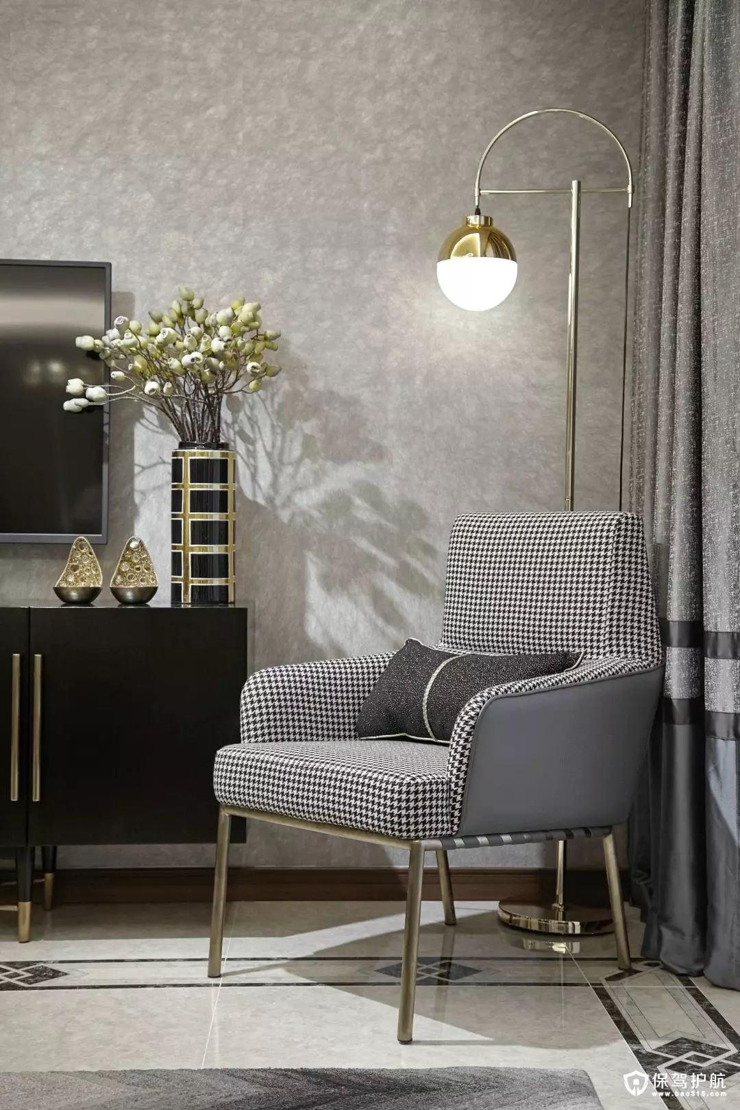 沉稳奢华简欧风格客厅装修效果图