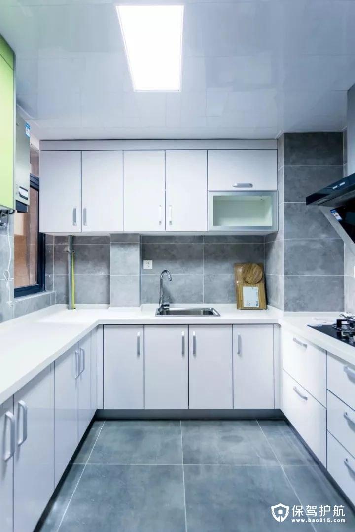简洁时尚北欧风格厨房装修效果图