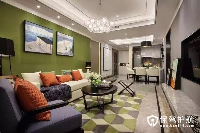 活泼俏皮现代简约客厅沙发背景墙装修效果图