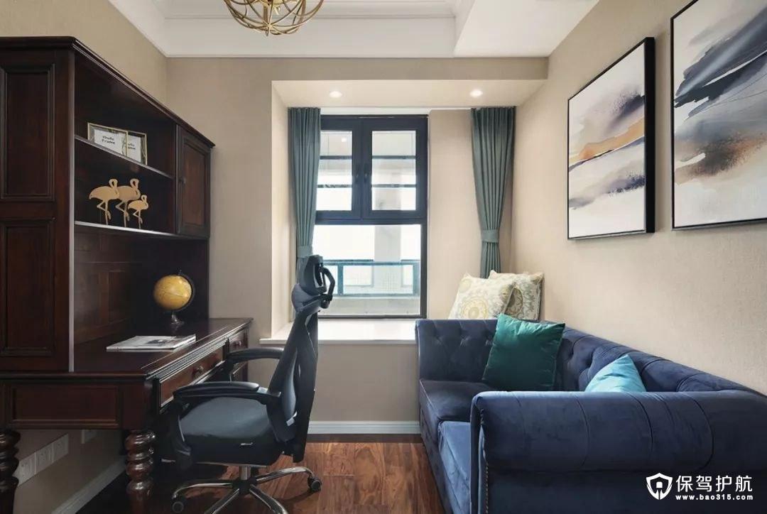 气质层次感美式风格客厅