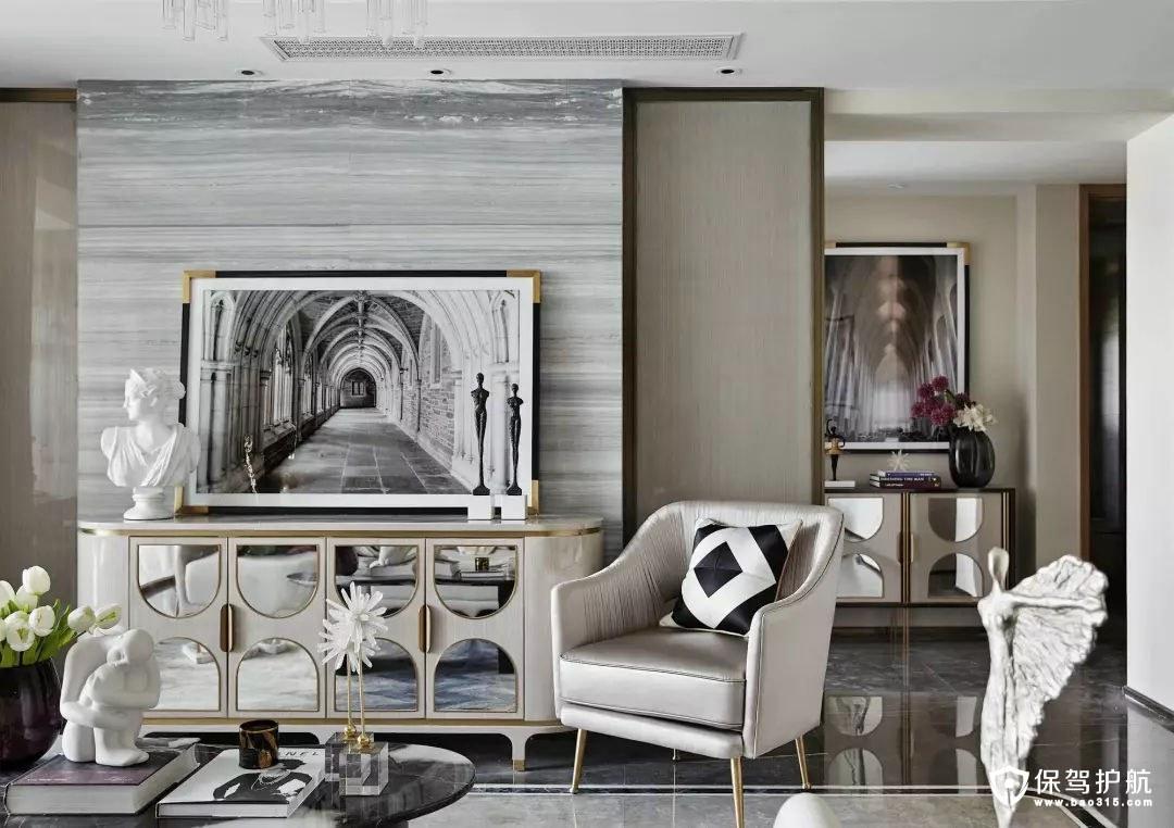 优雅清新简欧风格客厅装修效果图