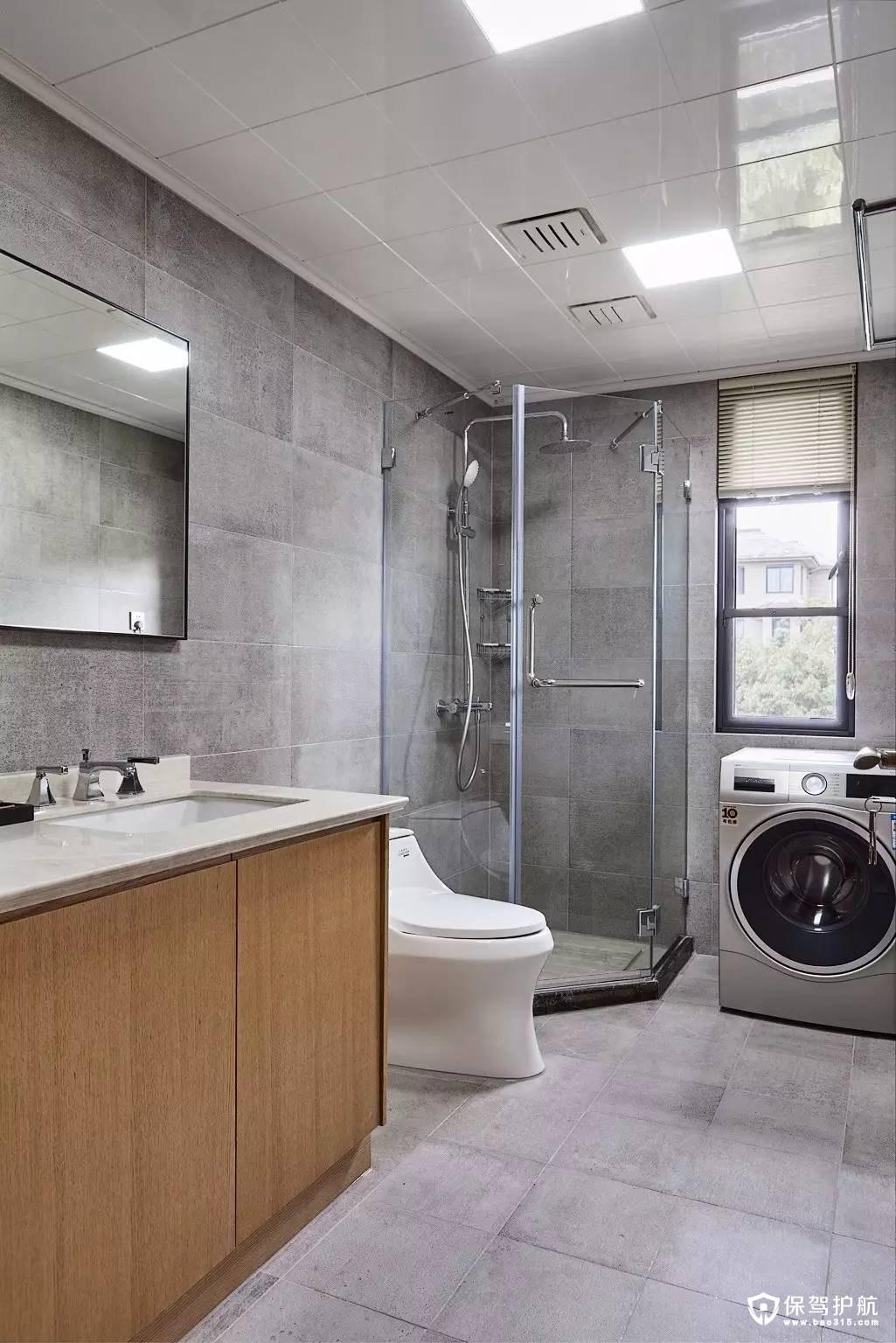美观简洁日式风格卫生间装修效果图