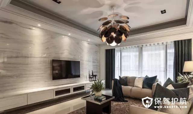 北欧风格客厅电视背景墙装修效果图
