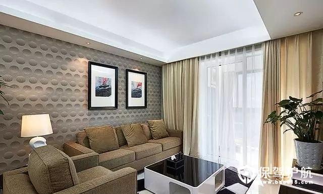 质感时尚现代简约风格客厅沙发背景墙装修效果图