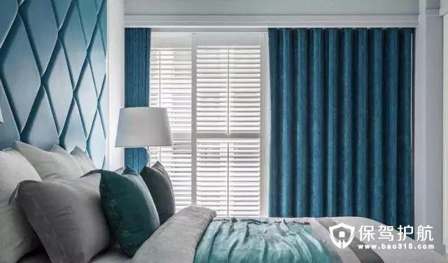 北欧风格卧室落地窗移动式百叶窗装修效果图