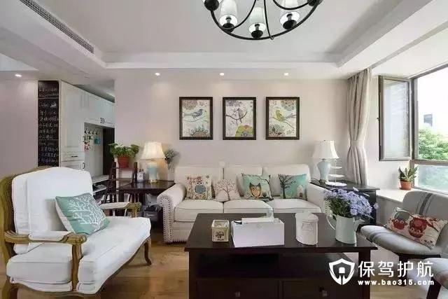 温暖活泼美式风格客厅装修效果图