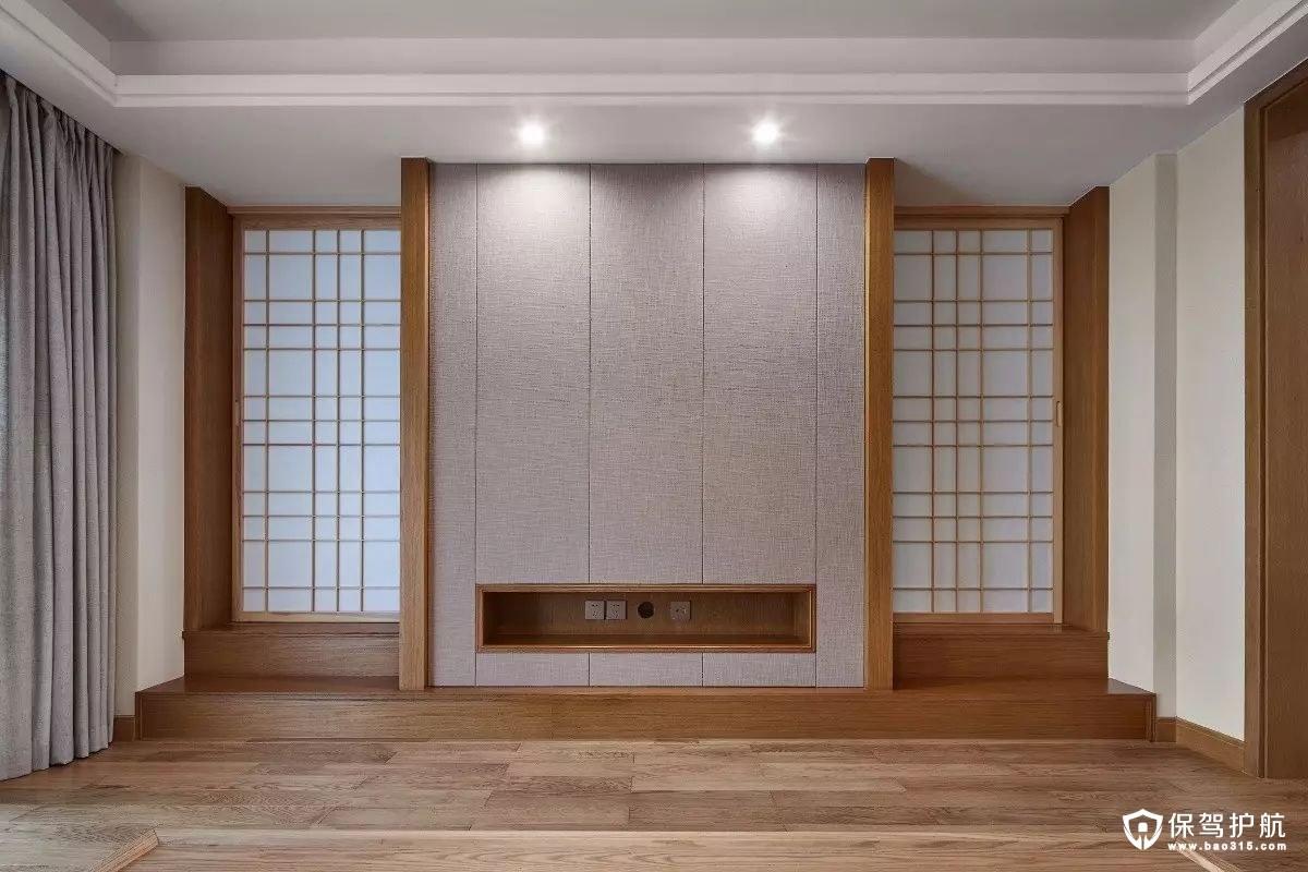 简洁大方日式风格电视墙装修效果图