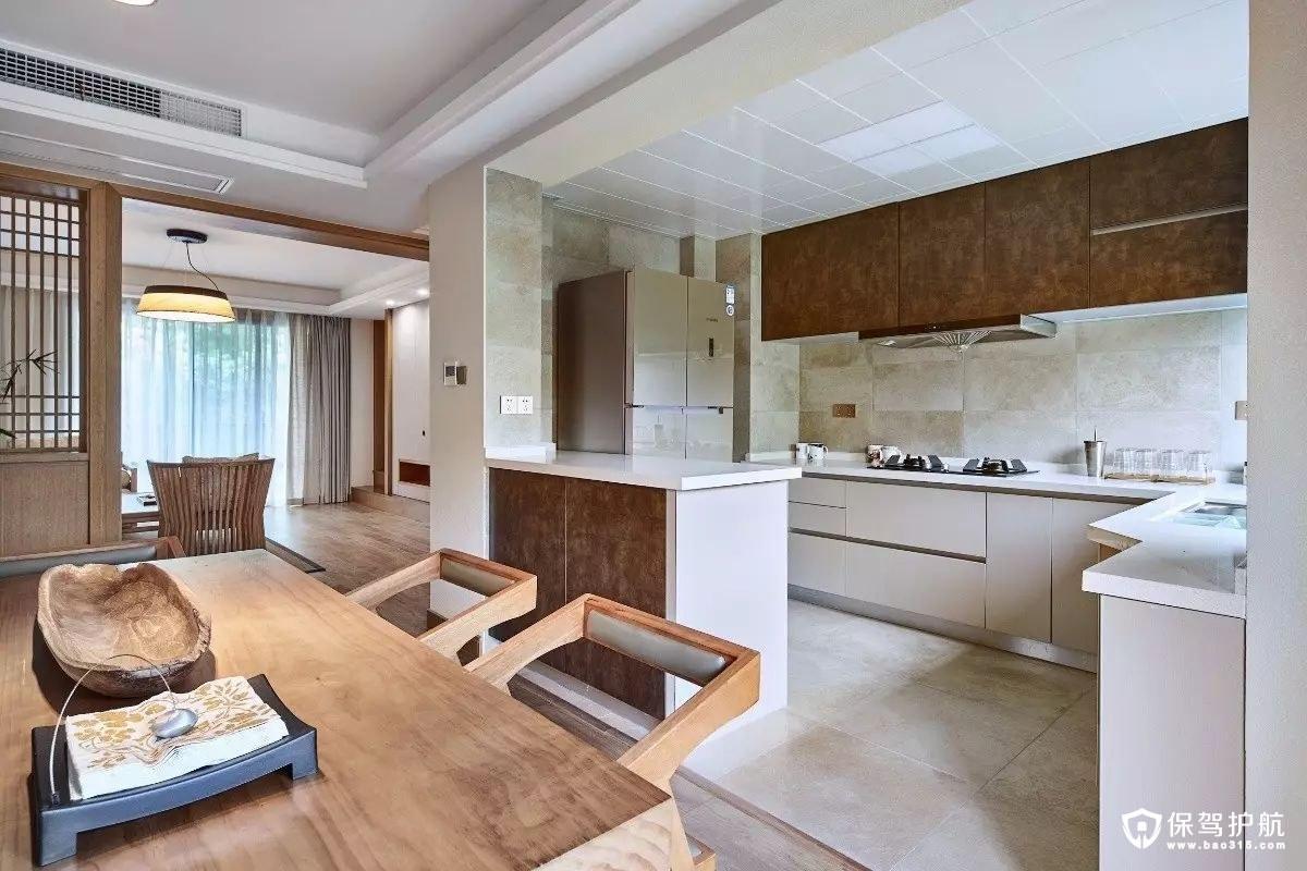 日式风格开放式厨房装修效果图
