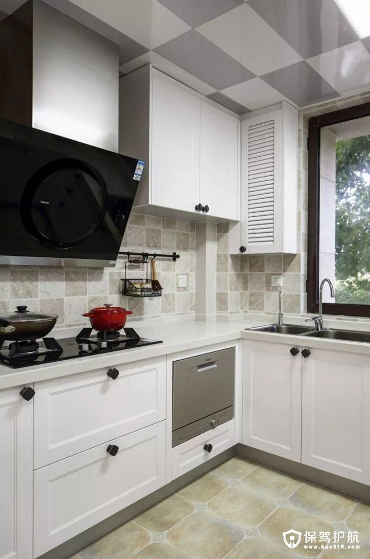 简单大方美式风格厨房装修效果图