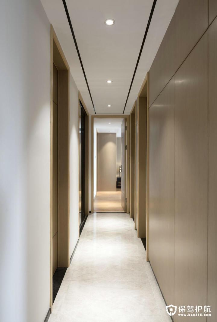 简单高档现代中式风格走廊装修效果图