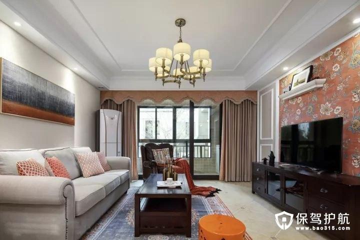 端庄大方现代美式风格客厅装修效果图