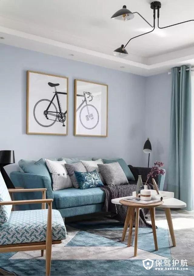 简单个性北欧风格客厅沙发背景墙装修效果图