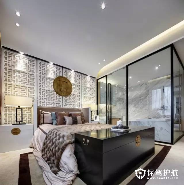 优雅高档现代中式风格卧室装修效果图