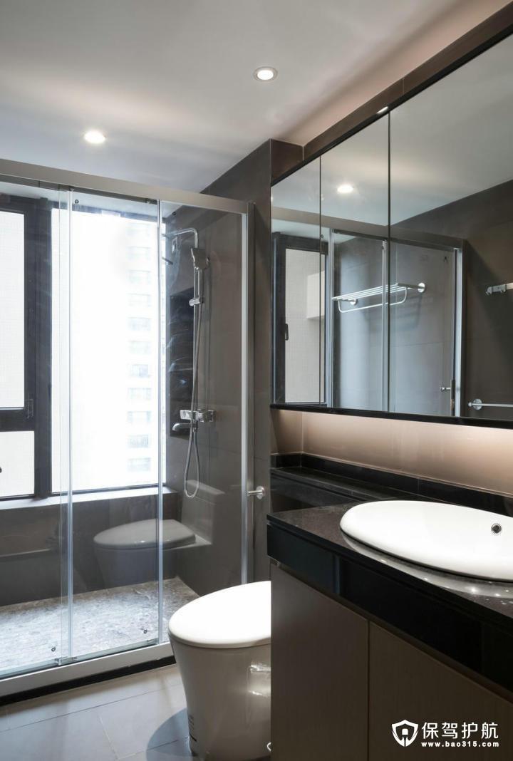 舒适现代中式风格卫生间装修效果图