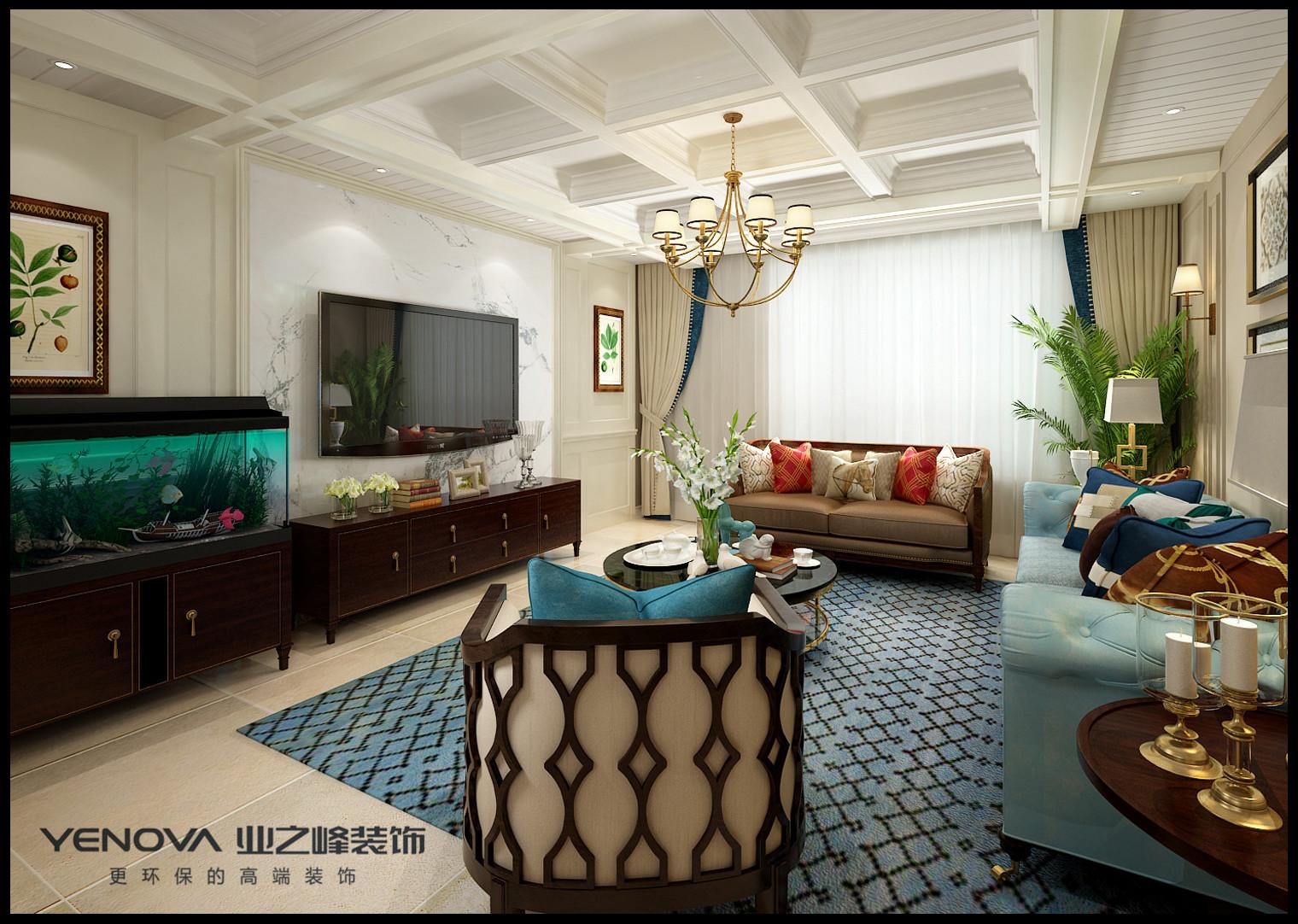 大连业之峰装饰-东港第181平米-美式风格
