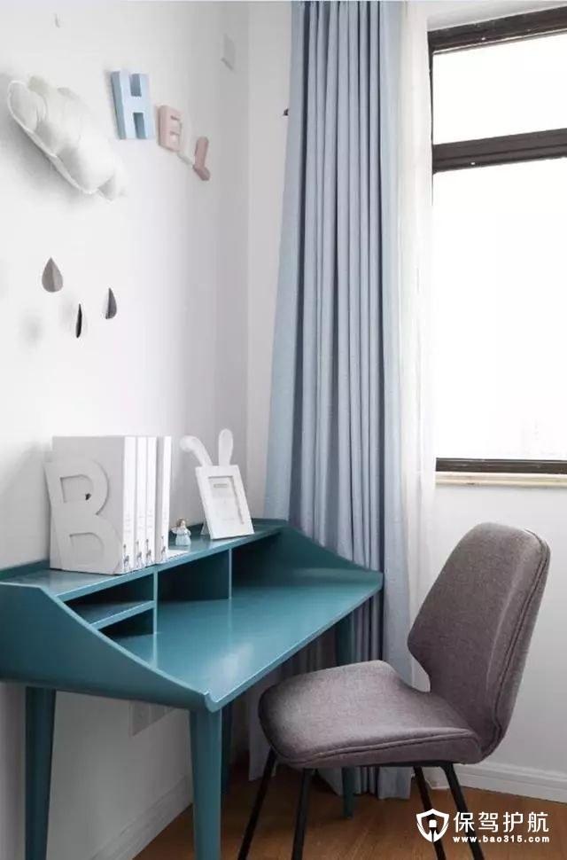 简洁童真北欧风格卧室学习区装修效果图
