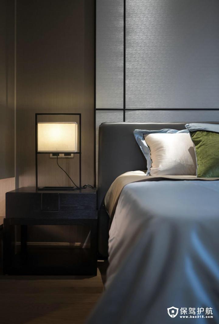 高档儒雅现代中式风格卧室装修效果图