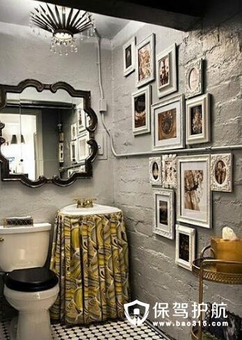 复古调十足的卫浴设计