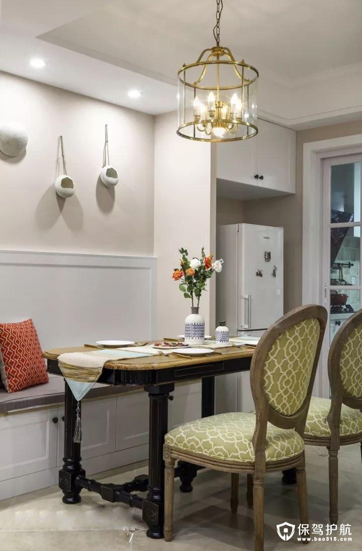 复古情调现代美式风格餐厅装修效果图
