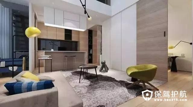 雅致清新北欧风格开放式厨房装修效果图