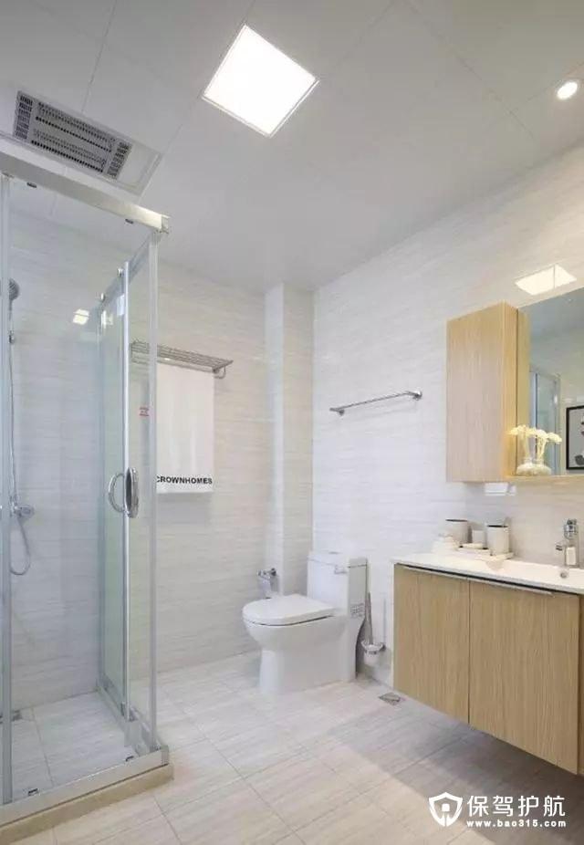 简约清爽北欧风格卫浴室装修效果图