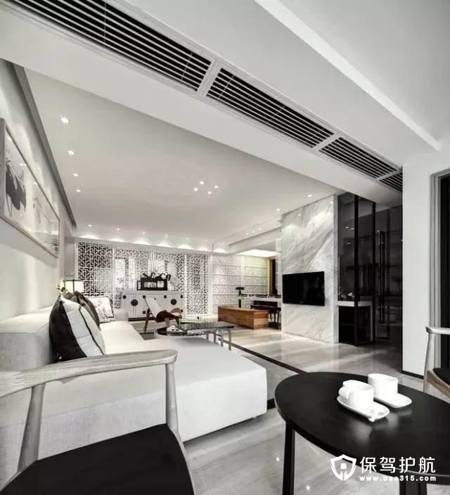 高档现代中式风格客厅装修效果图