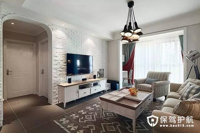 典雅简欧风格客厅电视背景墙装修效果图