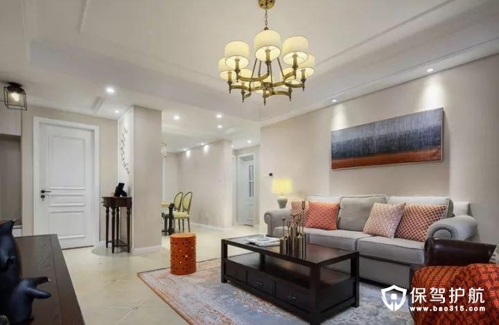 复古风情美式风格客厅装修效果图