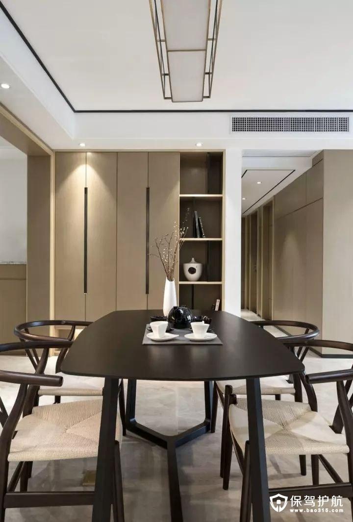 禅韵高档现代中式风格餐厅装修效果图