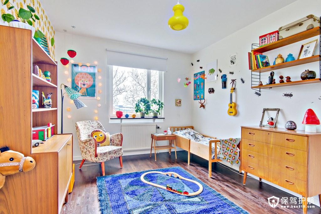 暖木色北欧风格儿童房