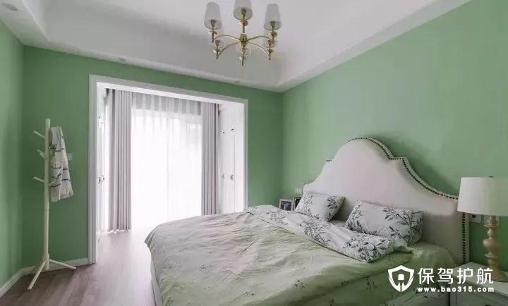 清新绿美式风格卧室