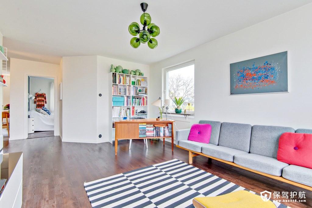 精致自然北欧风格客厅沙发背景墙