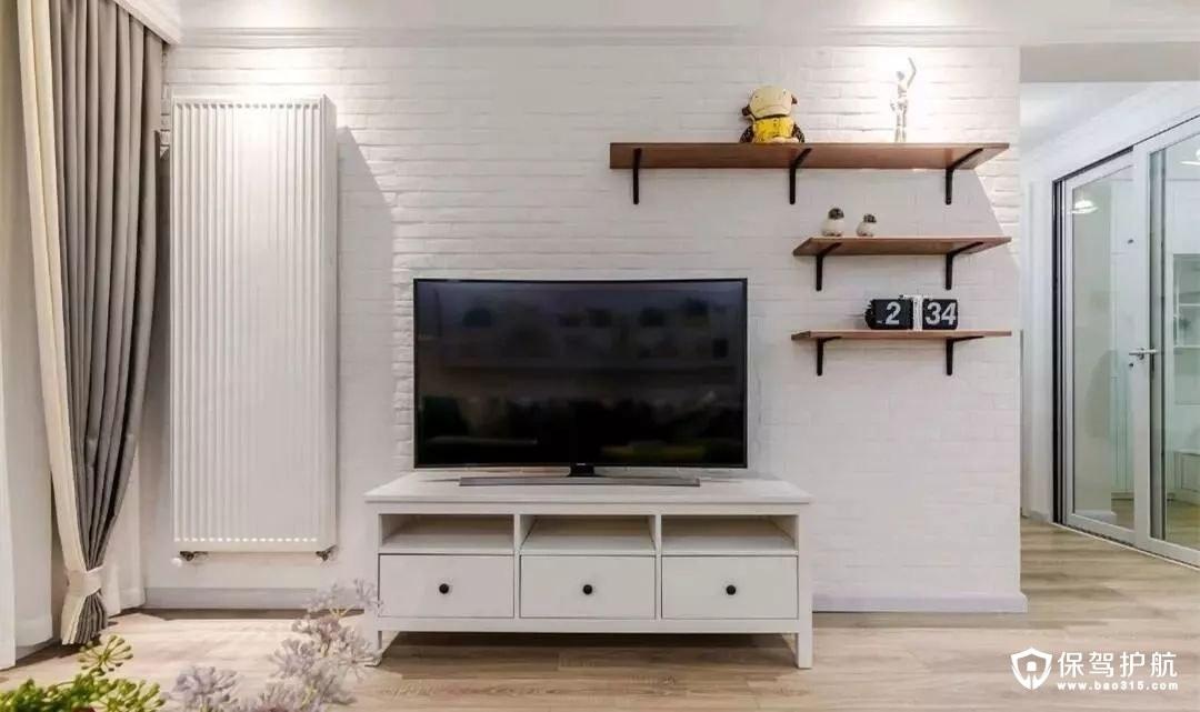 简约北欧风格客厅电视背景墙