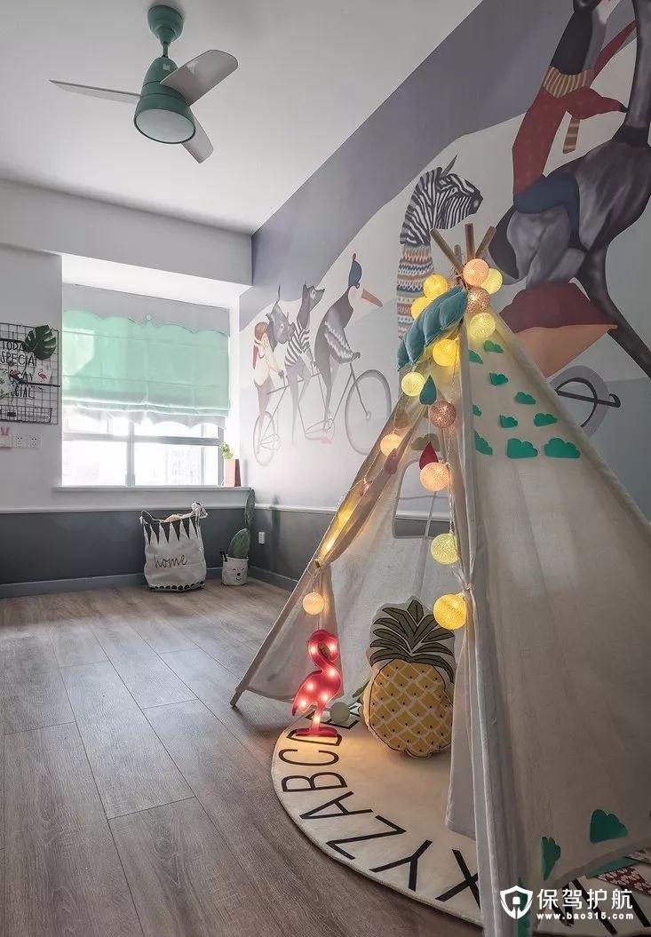 活动式北欧风格儿童房