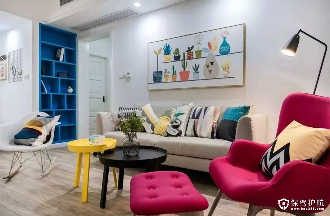 时尚大方北欧风格客厅沙发背景墙