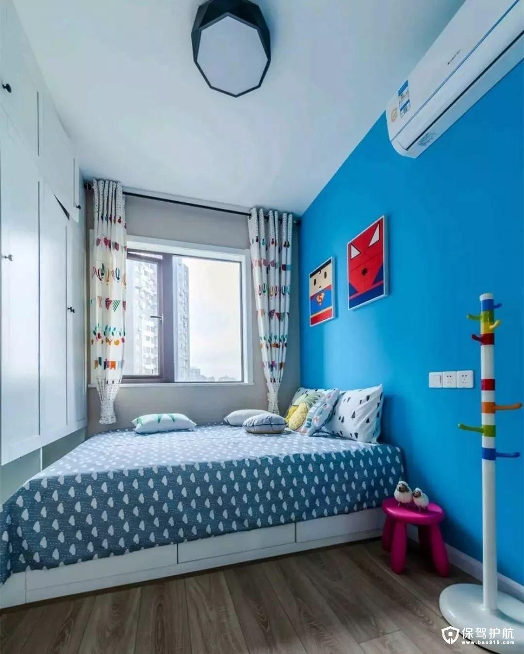 童趣蓝色北欧风格儿童房