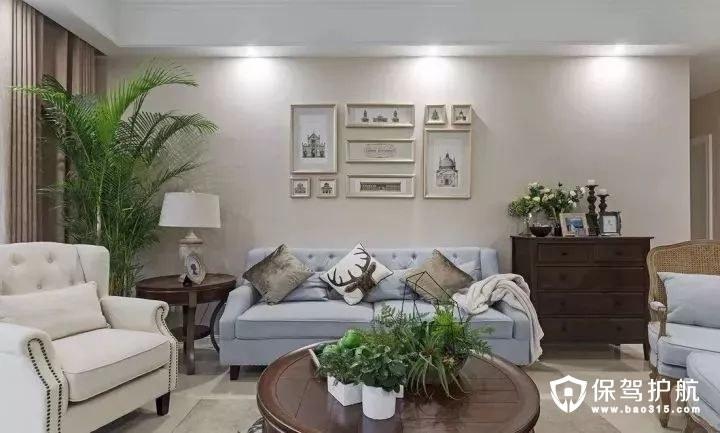 花园式美式风格客厅