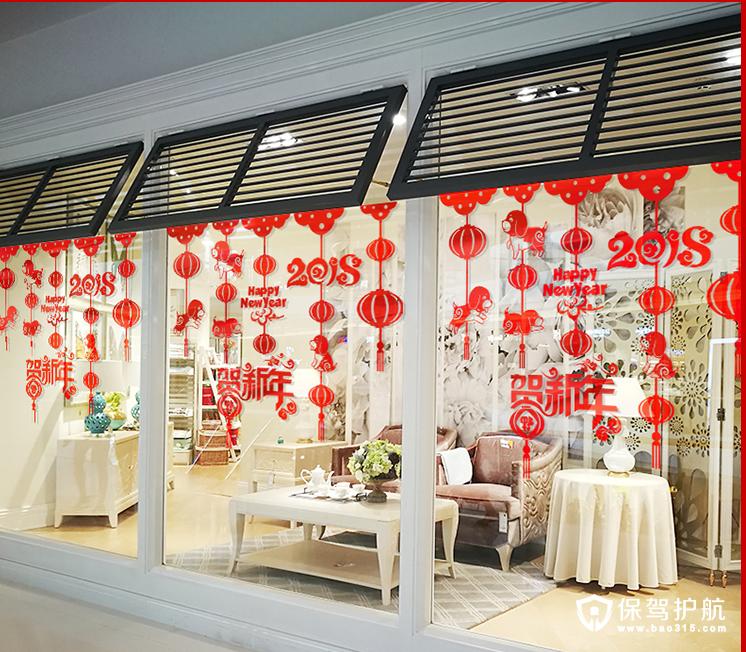 2018年春节装饰品玻璃贴花推荐