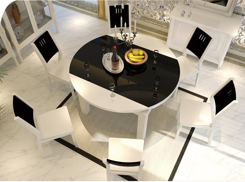 三款时尚现代简约小户型餐厅折叠桌椅推荐