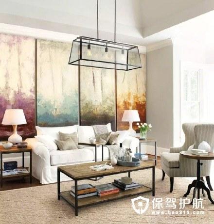 九款治愈系美式客厅装修效果图