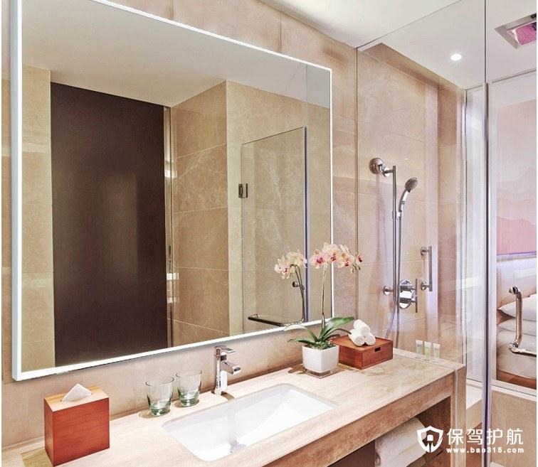 简约现代浴室镜效果图